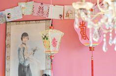 pink wall love