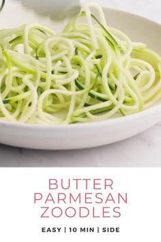 Are you trying to add more vegetables into your family meals? Then this zoodles recipe is an incredibly easy and sure way to satisfy every member of your family! See how easy it is to make this healthy side recipe. Use these tips to create healthy, Keto friendly, Vegan friendly, Paleo, and a gluten free version of your favorite pasta. Add this butter parmesan sauce and you've got a quick dinner or side. Get this healthy recipe and more at Don't Waste the Crumbs. #dinnerrecipes #zucchinirecipes Allergy Free Recipes, Vegetarian Recipes Easy, Lunch Recipes, Healthy Dinner Recipes, Real Food Recipes, Healthy Food, Health Recipes, Healthy Dinners, Health Lunches