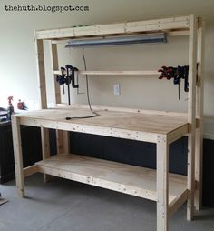 I am making this workbench tomorrow on my day off. Ginger & The Huth: DIY Work Bench