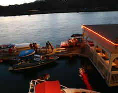 Parker, Arizona in the summer gets pretty lively here at the Roadrunner Floating Bar & Grill, a staple on the famous Parker Strip along the mighty Colorado River!! Woo Hooo!!