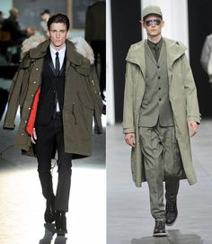 Army overcoats