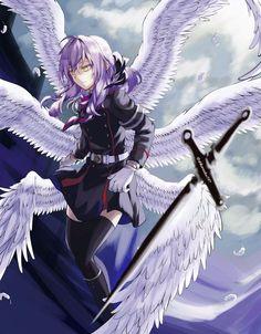 Chica Anime Manga, Otaku Anime, Kawaii Anime Girl, Anime Art Girl, Female Characters, Anime Characters, Shinoa Hiiragi, Horror Sans, Anime Devil