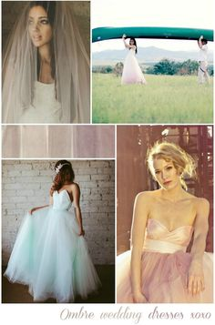 I have a new style obsession. Dip dyed wedding dresses! I think they look absolutely incredible and really inject a shot of unique-ness into your big day. You c