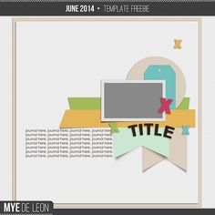 Free digital scrapbooking page layout template