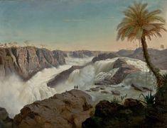 Cachoeira de Paulo Afonso. 1850. Óleo sobre tela. E. F.  Schute.  Encontra-se no Museu de Arte de São Paulo.