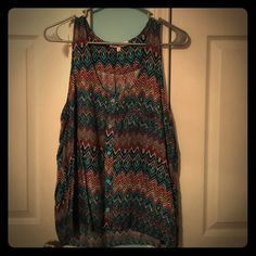 Button Down Tank Top Adorable tank top that can be great for all your summer adventures! It has never been worn, but does not have the tags. It's in perfect condition. Wishful Park Tops Tank Tops