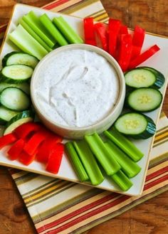 From-Scratch Diet-Friendly Ranch Dip with Greek Yogurt and Dill is easy-to-make and delicious! And this tasty dip for veggies can be low-carb, Keto, low-glycemic, or South Beach Diet friendly, and it can be red and green if you're looking for a holiday appetizer. Click here to PIN this from-scratch diet-friendly Ranch Style Dip! When I…