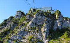 Die Bergstation mit Bergrestaurant auf dem Predigtstuhl