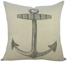 Anchor Cotton Throw Pillow