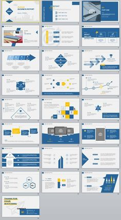 25+ Blue annual company PowerPoint Templates
