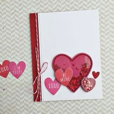 Be Mine Card by Heather Nichols for Papertrey Ink (January 2016)