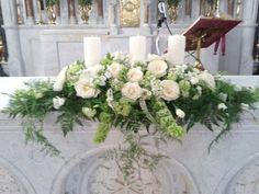 Wedding Flower Arrangements altar burgundy and white flower arrangements for church petals floral design cork irl www Church Wedding Flowers, Church Wedding Decorations, Wedding Altars, White Wedding Flowers, Wedding Centerpieces, White Flowers, Wedding Table, White Hydrangeas, Wedding Ceremony