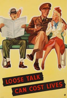 WWII US Poster - Loose Talk Can Cost Lives