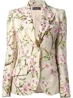 Dolce and Gabbana Floral Print Blazer