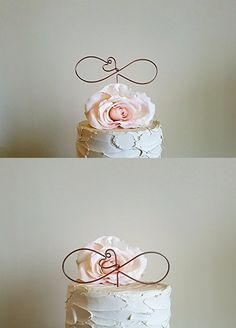 INFINITY Cake Topper in Oxidized Copper Wire Finish, Wedding Cake Decoration by AntoArts