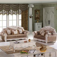 4  pcs of 1 set antique design fabric living room sofa #SF-016