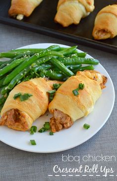 BBQ Chicken Crescent Roll Ups - a 30 minute meal or an awesome appetizer! These things are so EASY to make and SO good!!