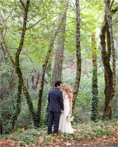 Love in the trees - forest wedding picture!