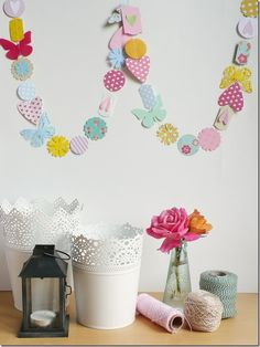cafe creativo - Anna Drai - big shot sizzix - paper garland (1)