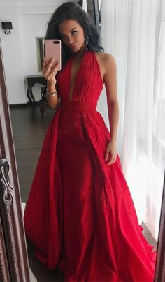 prom dresses, red long prom dresses, gorgeous prom dress 2018, prom dresses with train