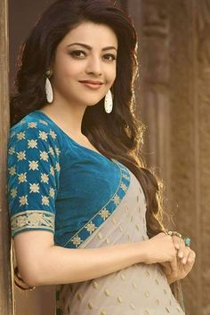 Kajal Agarwal is one of the most popular and beautiful actresses South Indian Actress. She is also work in Bollywood. Kajal Agarwal work on many South Indian Movies and Bollywood Movies. Indian Celebrities, Bollywood Celebrities, Bollywood Actress, Bollywood Saree, Bollywood Fashion, Most Beautiful Indian Actress, Beautiful Actresses, Kajal Agarwal Saree, Divas