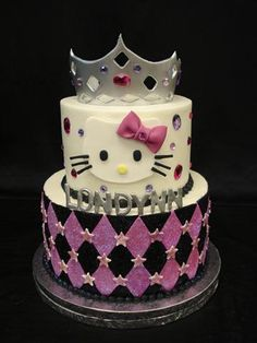 Custom cake, Hello Kitty in Buttercream @Krafty Kreationz  This would defiitely be on your higher end fee :)
