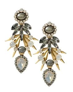 2b18e0035611af Elizabeth Cole Striecker Earrings | The TOTEFISH Blog Baby Kids Clothes,  Chandelier Earrings, Statement