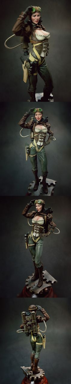 Steampunk rocketeer mini