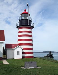 West Quoddy Head Lighthouse, Maine - the Passamaquoddy Native Americans, have lived here many years on the St. Croix River.