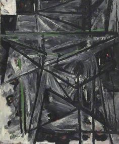 Intérieur noir, 1950 by William Gear (1915-1997)