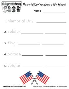 kindergarten memorial day coloring sheets