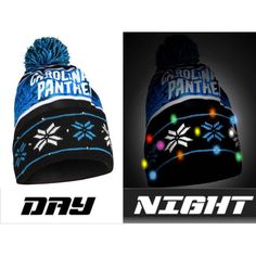 Carolina Panthers NFL Wordmark Light Up Printed Beanie