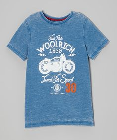 Another great find on #zulily! Blue 'Tuned for Speed' Motorcycle Tee - Toddler & Boys by Woolrich #zulilyfinds