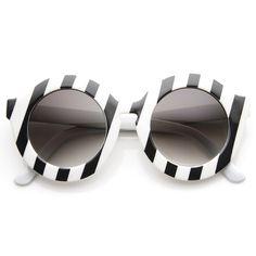 e8f382b0a3 Womens Fashion Oversized Bold Round Sunglasses