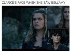 these two are so in love i can't even   The 100 4x05   Bellarke is Canon
