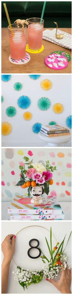 Colorful Home Crafts from @ohjoy #homedecor