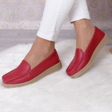 PANTOFI PIELE MONI RED Casual, Loafers, Red, Shoes, Fashion, Travel Shoes, Moda, Zapatos, Shoes Outlet