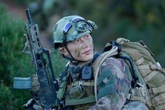 French Foreign Legion GCP commando with HK G36 assault rifle