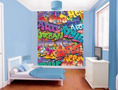 Loads of ideas for teenagers bedroom walls including tese