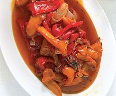 The traditional Italian vegetable dish peperonata is one of my favourite, and very easy to make. Colourful, tasty and brilliant for people who find peppers indigestible unless well cooked.