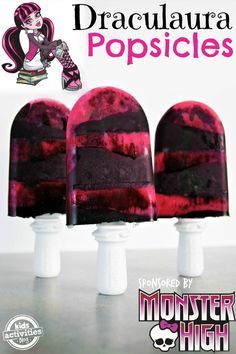 Make Monster High Draculaura Popsicles For Back To School Fun! (And a Giveaway!)