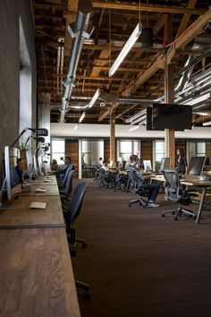 GitHub - San Francisco Headquarters / Exposed Ceiling / Raw Wood Beams / Benching / Natural Finishes