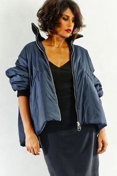 Nilou in Hache Jacket with Won Hundred Dress and Closed Tote   shopheist.com