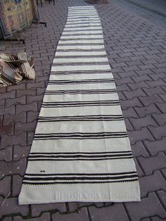 2'2 x 18'6  69x569cm XL Narrow Runner Rug-White by mywoolrugs