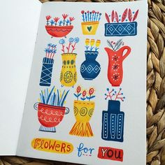 Sketchbook of Illustrator and Hand-lettering artist, Linzie Hunter