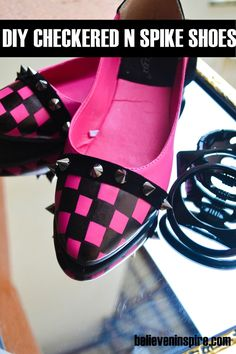 Checkered Shoes ( Customize Your Own Shoes) - Believe&Inspire