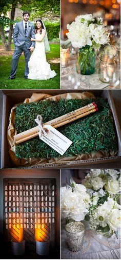 Cutest save the dat idea!  This wedding is adorable.