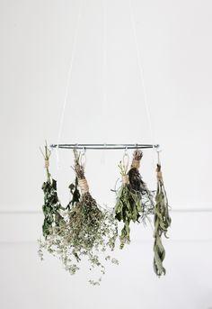 DIY herb drying rack