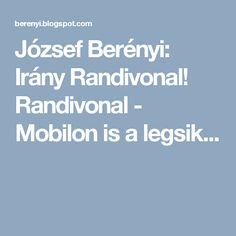 Randivonal - Mobilon is a legsik. Tea, Teas