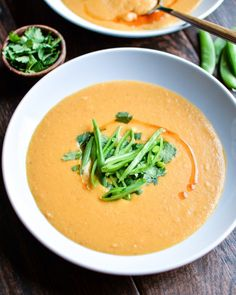 Thai Red Lentil Soup Weeknight Meal (Melrose Family) ... this is awesome ... subbed Dulce pepper for bell and fish sauce for soy ... also needed a lot more liquid to cook lentils completely, ended up using 4 c. veg broth and about 1/2 c. water